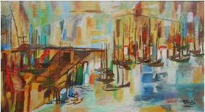 Ponte e barche a Foce Varano